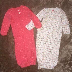 2 Baby Girl Sleep Gowns